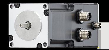 Stepper motor with metric connector, encoder & brake