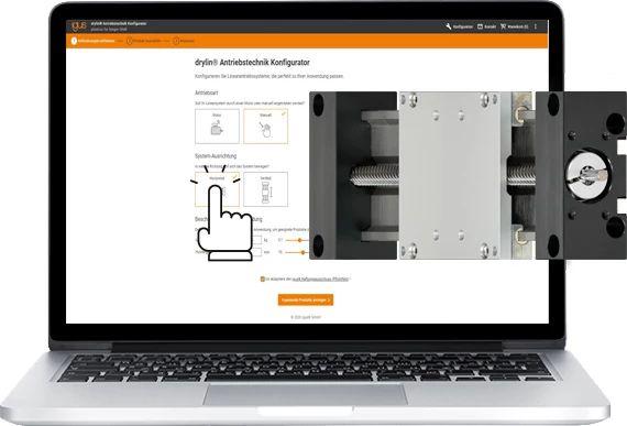 Linearachsen drylin SLW von igus online konfigurieren