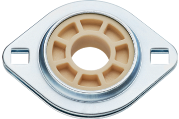 Flange bearings with 2 mounting holes, PFL, igubal®