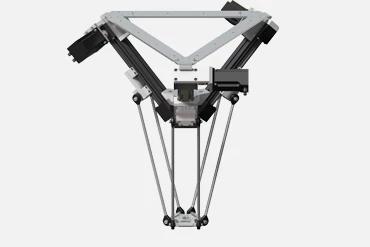 drylin delta robot. Workspace 360mm