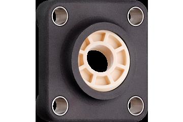 Fixed flange bearing with 4 mounting holes, polymer housing, igubal® JEM-SP