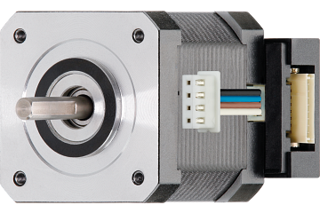drylin® E stepper motor, stranded wires with JST connector and encoder, NEMA 17