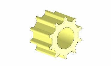 Zahnriemenrad CAD-Modell