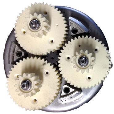 Ersatz-Zahnräder aus iglidur I3 für ein Planetengetriebe eines E-Bikes