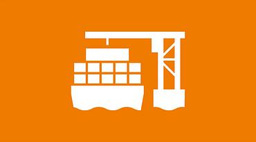 Port crane icon