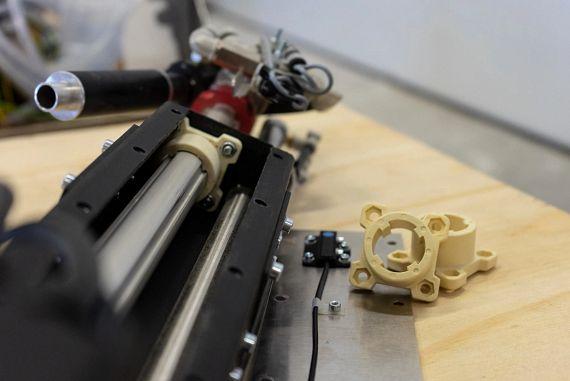 3D-gedruckte Gleitlager mit besonderer Geometrie verhindern eine ungewollte Rotation und somit zu viel Reibung