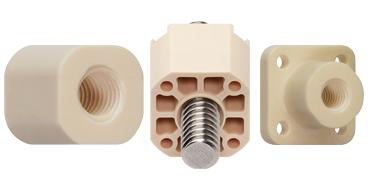 3D printed lead screws and nuts