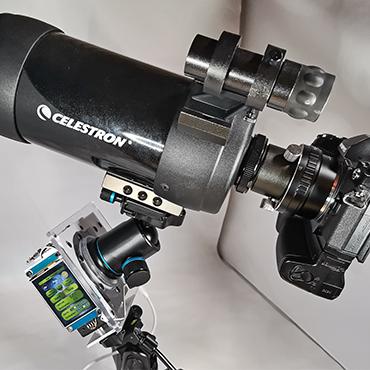 Vorrichtung um die Erdrotation auszugleichen und somit Langzeitbelichtung für die Astrofotografie möglich zu machen.
