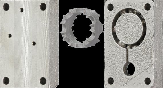 Spritzgusswerkzeug aus Metall im 3D-Druck hergestellt