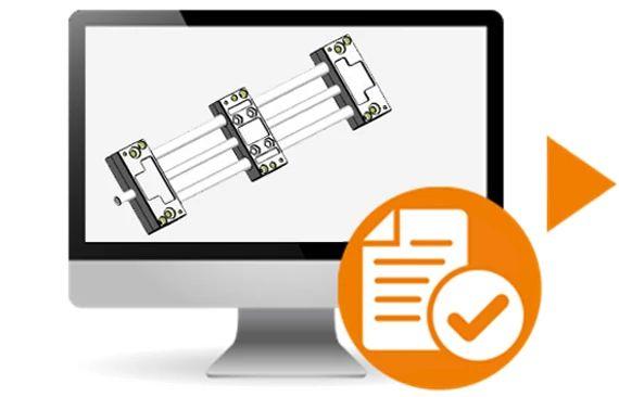 Dane CAD technologii liniowej