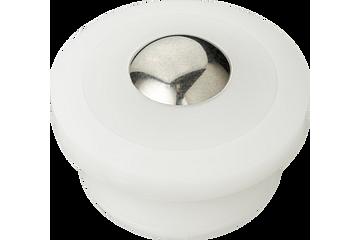 Sliding xiros® polymer ball transfer unit, xirodur B180, stainless steel ball, mm