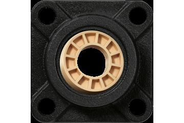 Cojinetes articulados con soporte con 4 agujeros de montaje, carcasa de hierro fundido UC, igubal® JEM-SP