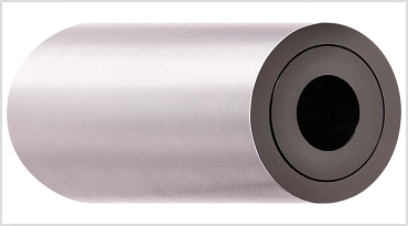 Electrostatically dissipative xiros® support roller made of stainless steel