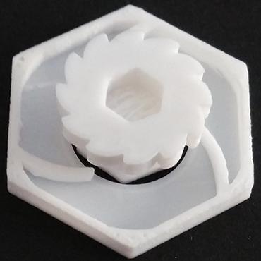 3D-gedrucktes mechanisches Uhrwerk aus iglidur I150 Filament
