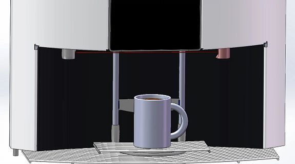 3D printing application example automatically adjustable cup tray