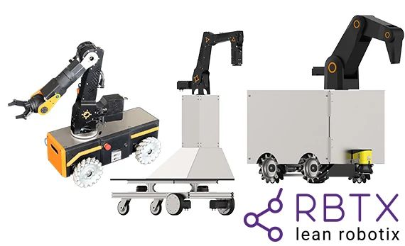 AGV robots as complete systems on RBTX