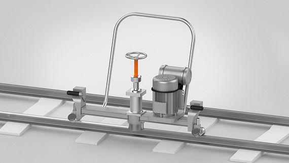 Schleifmaschine für Schienen