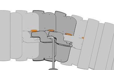 triflex R B Version oranger Kopf mit Montagewerkzeug
