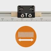 econ measuring system based on drylin® pre-load prism slide