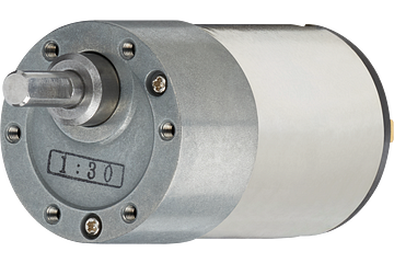 drylin® E DC motor with spur gear, Flange 37 mm