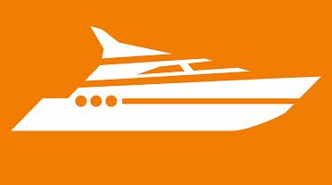 Sports boat icon