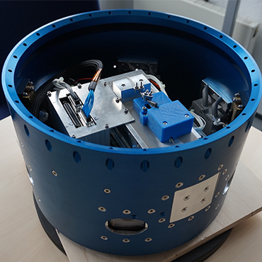Raketenmodul zur Messung von Bewegung und Position von Objekten im All