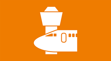 Airplane and tower icon