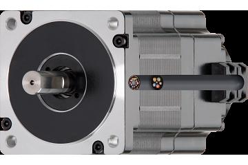 drylin® E EC/BLDC motor with stranded wires, Hall, encoder and brake, NEMA 34