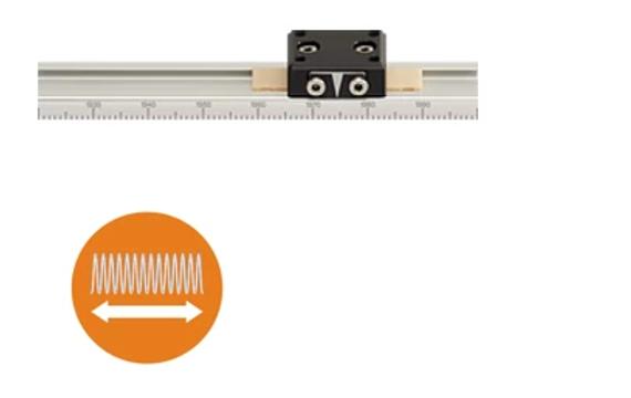 Pre-load prism slide measuring system